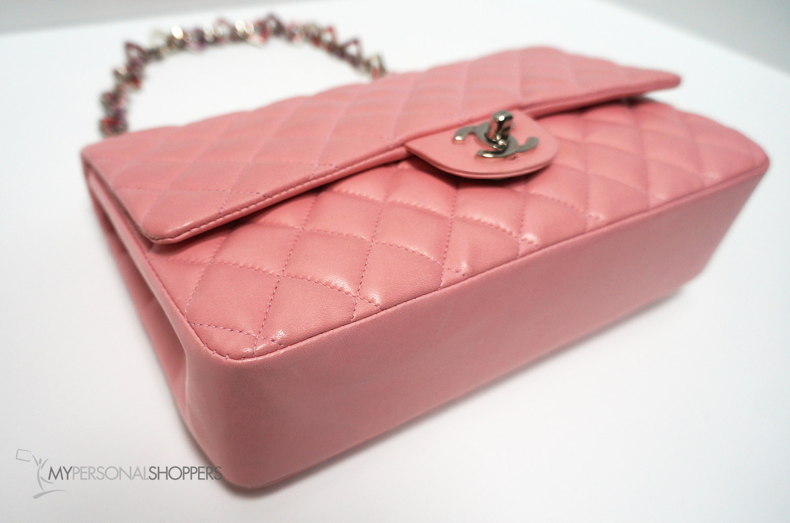 e1f8b1567e7a Chanel Limited Edition Pink Lambskin Leather Valentine Heart Chain Flap ...