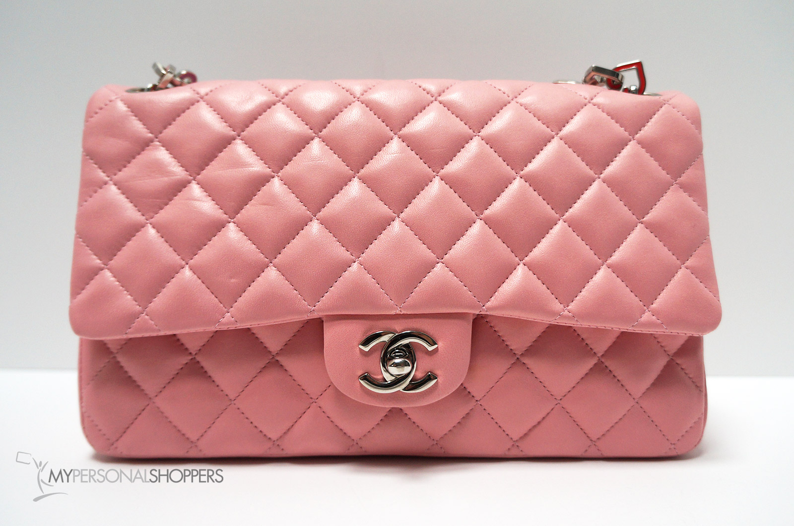 59dccacef774 Chanel Limited Edition Pink Lambskin Leather Valentine Heart Chain ...