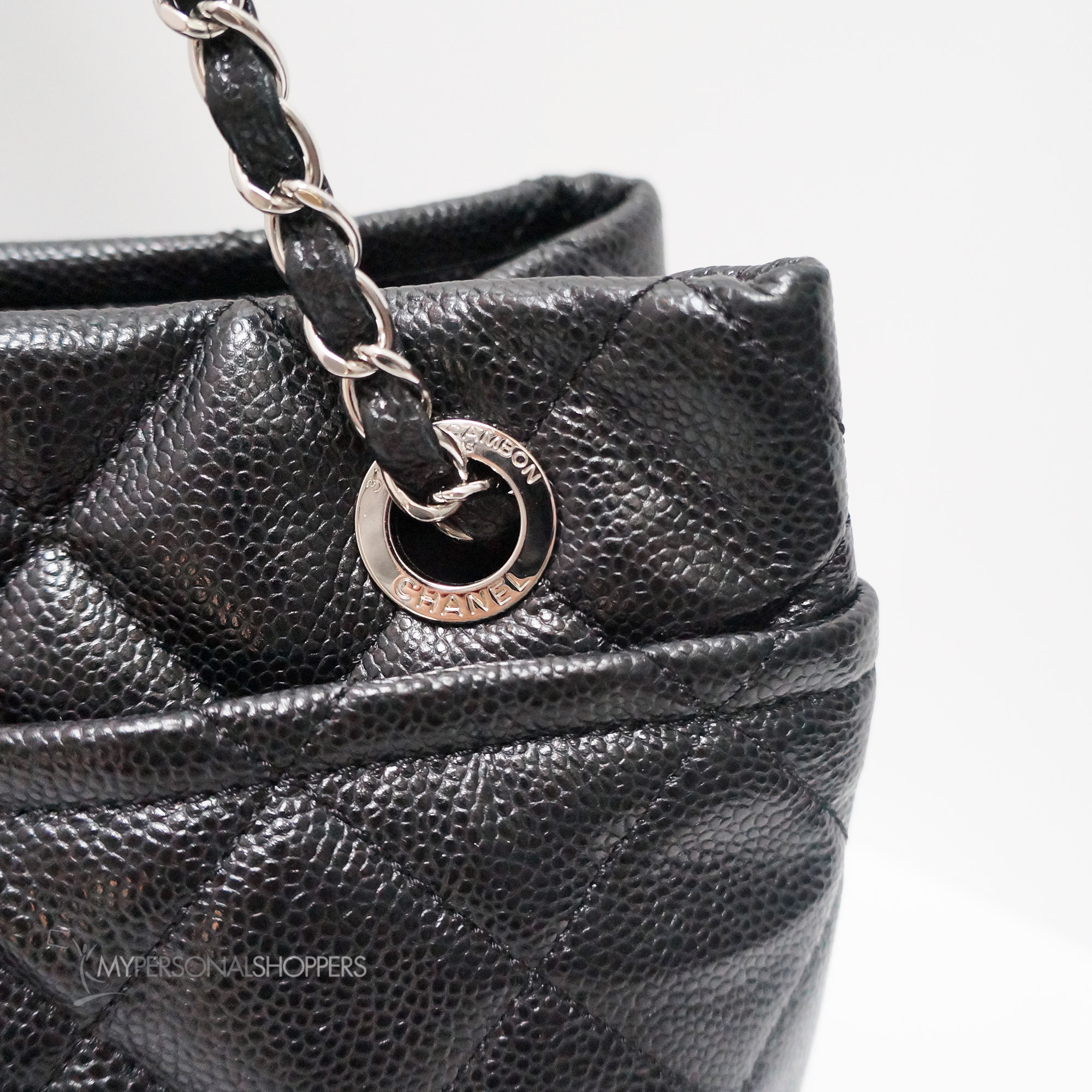 e91d492a08c7c9 Chanel Black Soft Caviar Leather Timless Large Shopping Tote Bag ...