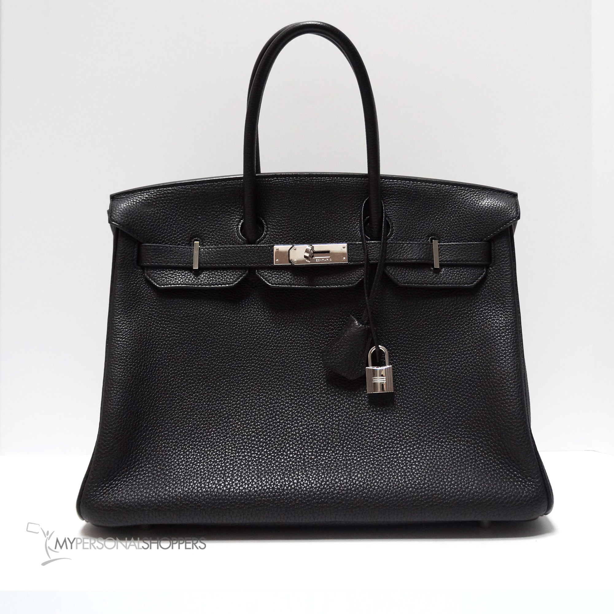 ffd74014c2c2 Hermes Black Togo Leather Palladium Hardware Birkin 35cm Bag