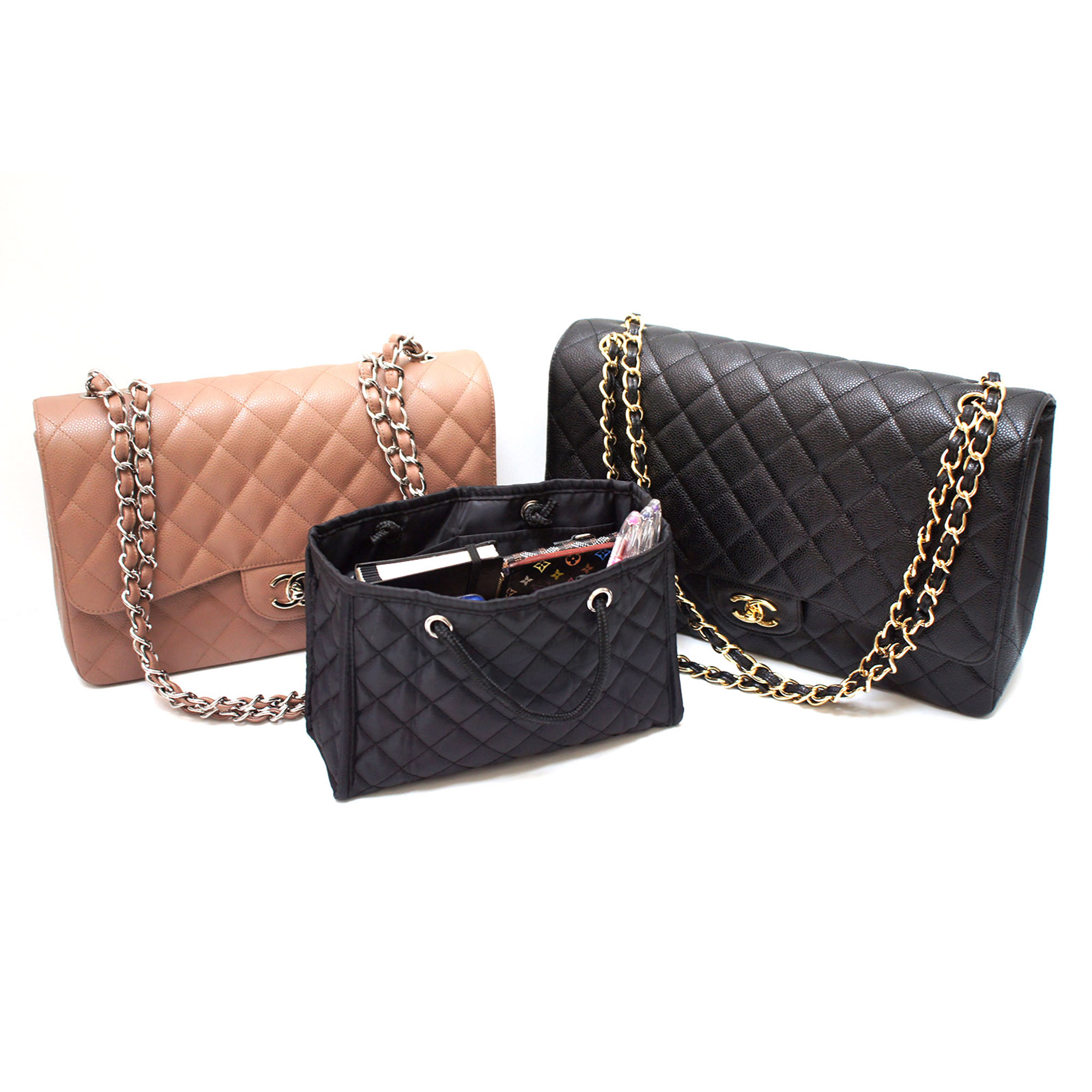 CHIC QUILTED ZOE SMALL HANDBAG ORGANIZER BASE INSERT FITS YOUR - Lawn care invoice template free chanel online store