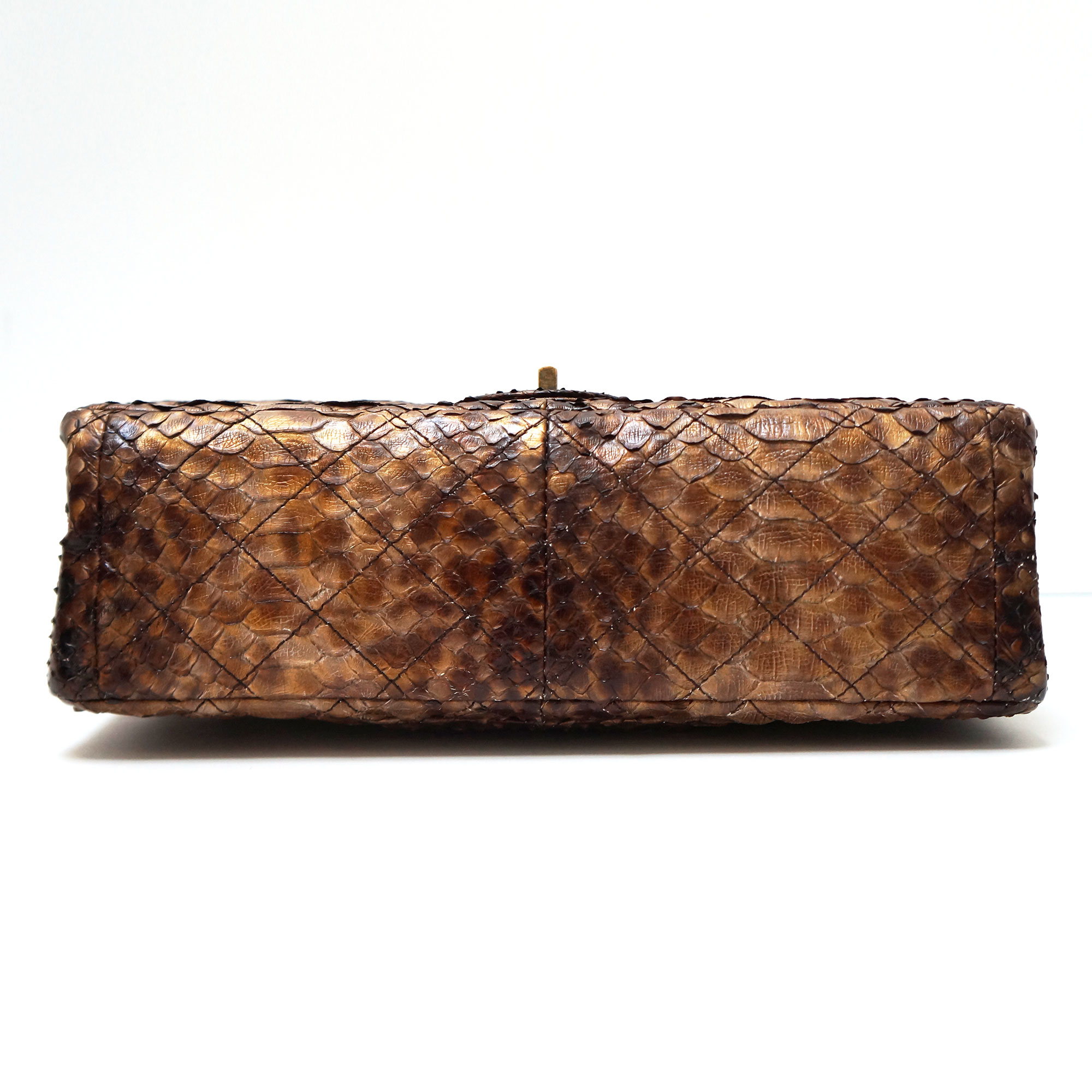 4229daa532b7 Chanel Limited Edition Shanghai Lucky Charms Brown Python Reissue 227 Flap  Bag