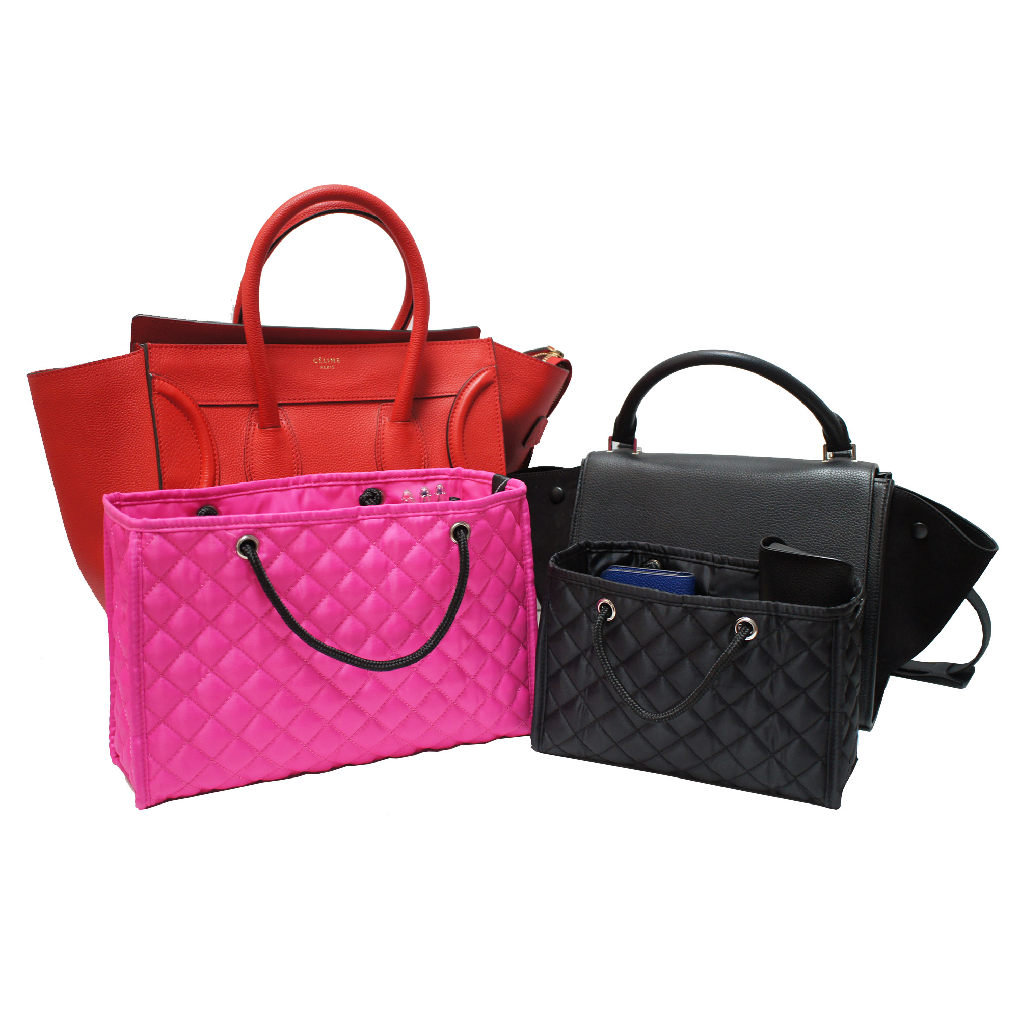 Zoe Quilted Handbag Organizer Insert with Removable Base | | My ... : quilted bags - Adamdwight.com