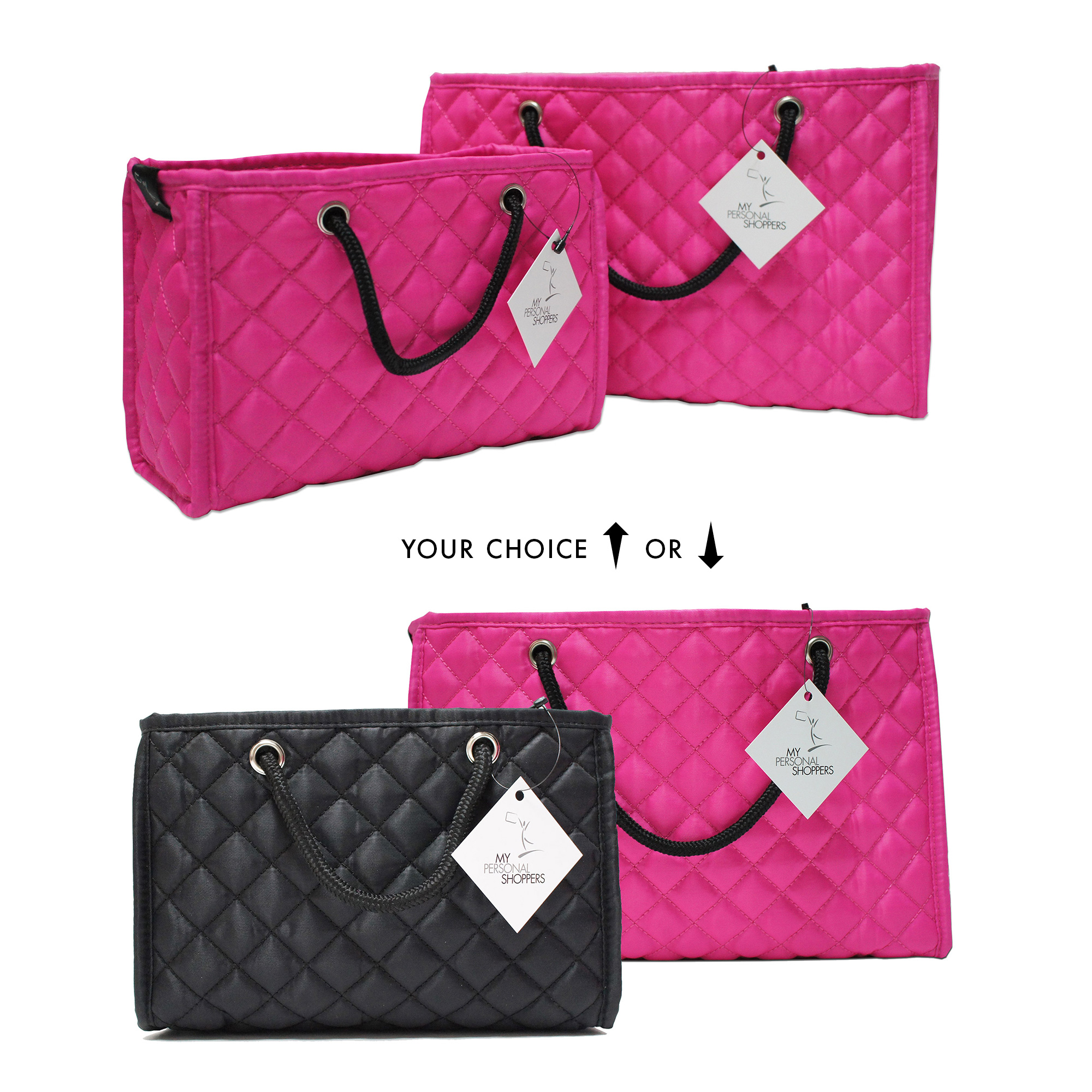 71b2b1001b646 Zoe Quilted Handbag Organizer Insert with Removable Base (2-Pack ...