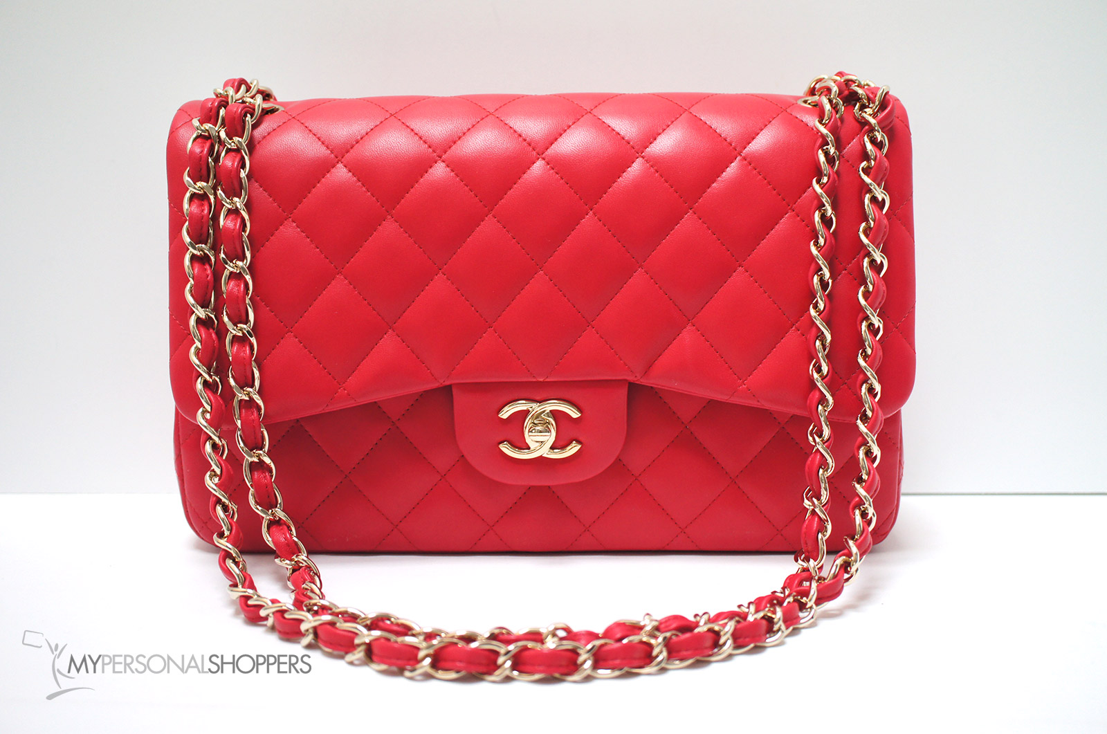 bee20b4c1b12 Chanel 16C Red Lambskin Leather GHW Classic Jumbo Flap Bag, New ...
