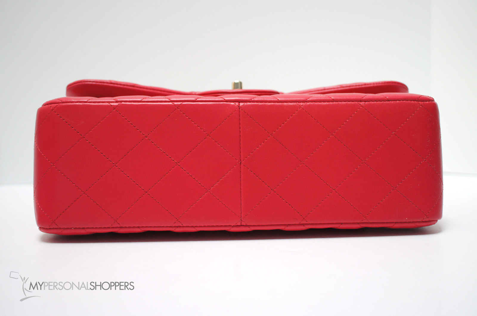 3bd0611fb78e7c Chanel 16C Red Lambskin Leather GHW Classic Jumbo Flap Bag, New ...