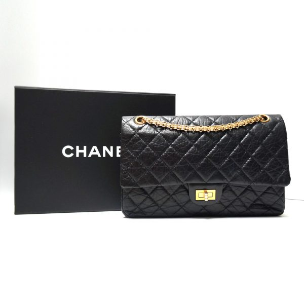 Chanel 2.55 Reissue 226 Flap Black with Gold