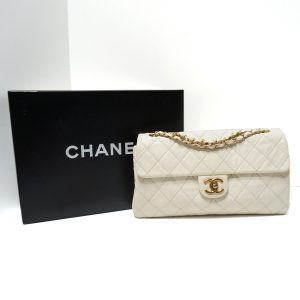 Chanel Envelope Flap Bag Ivory Calfskin