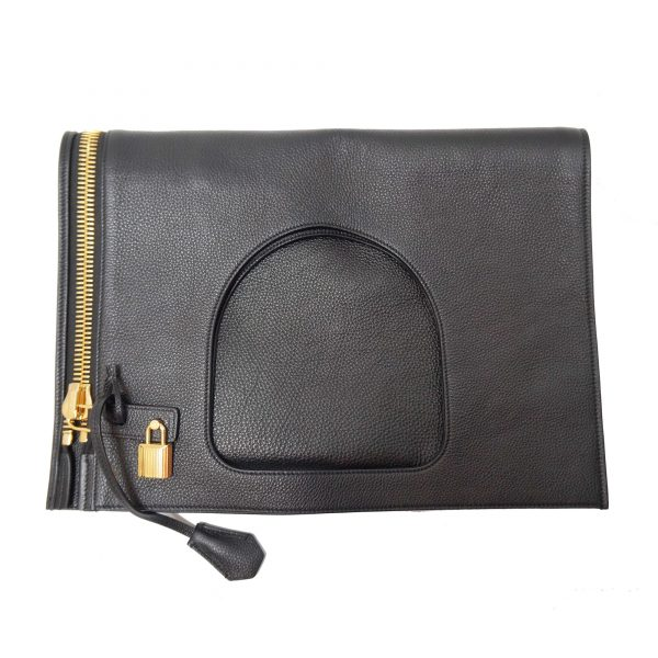 Tom Ford Alix Padlock & Zip Shoulder Bag