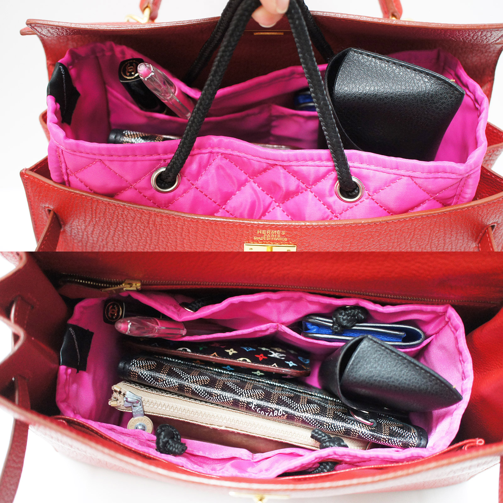 23e97b4fc673 ZOE Quilted Medium Handbag Purse Organizer Insert with Removable Base Fits  HERMES Bag