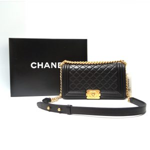 Chanel Le Boy Medium Flap in Black