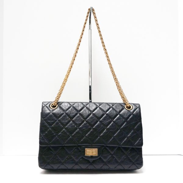 Chanel 2.55 Reissue Flap Bag Black with Gold