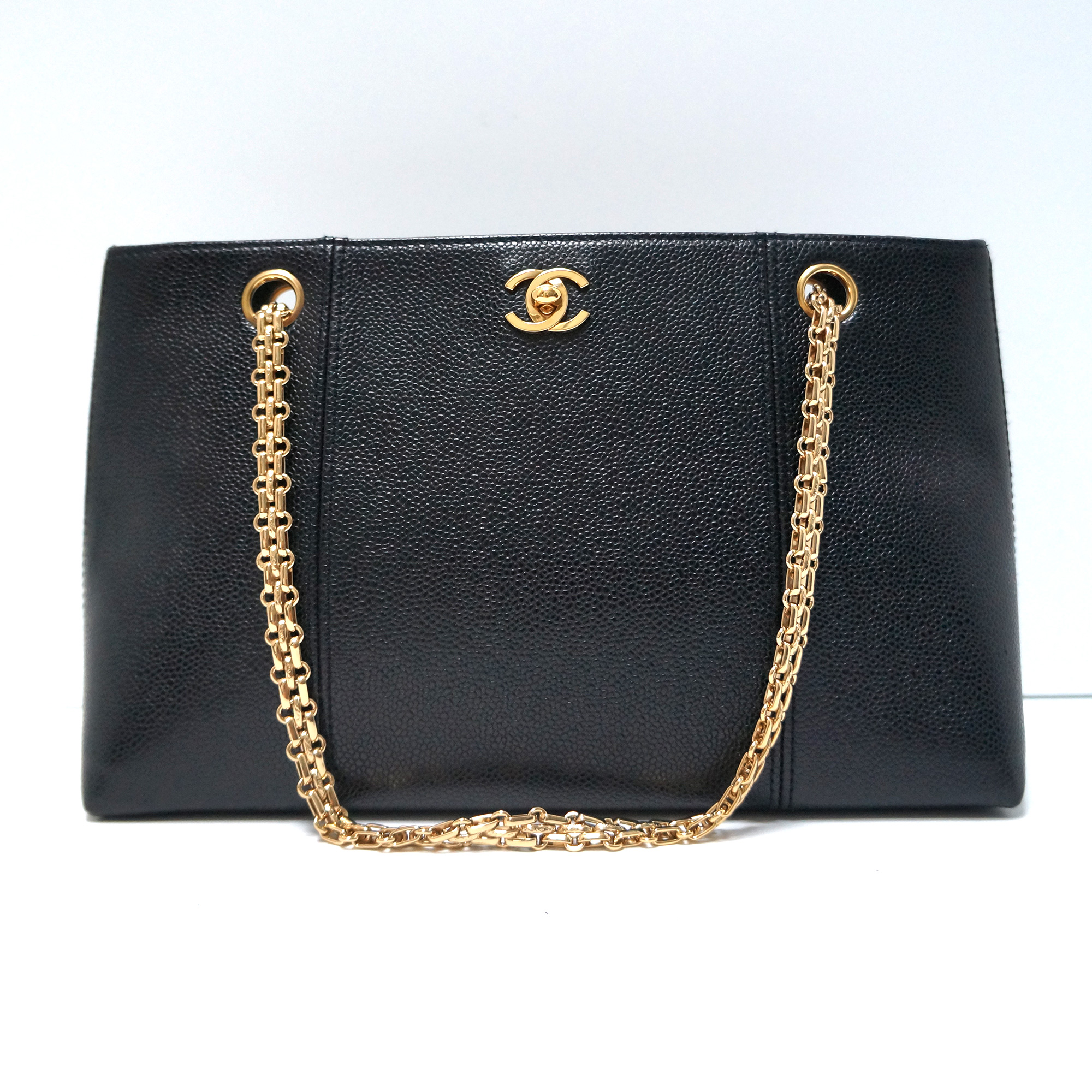 Chanel Vintage Caviar Leather Tote