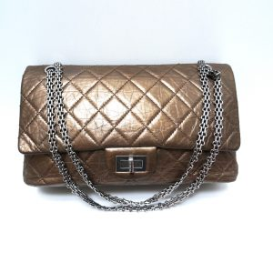 Chanel 2.55 Reissue Gold Leather Bag