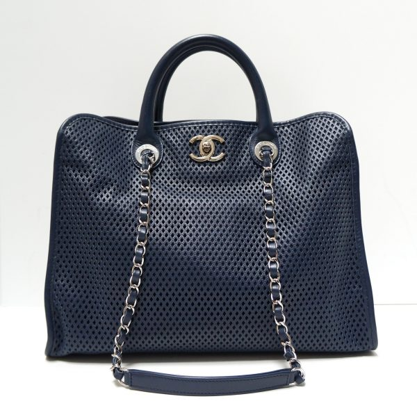 Chanel Up In The Air Perforated Leather Tote