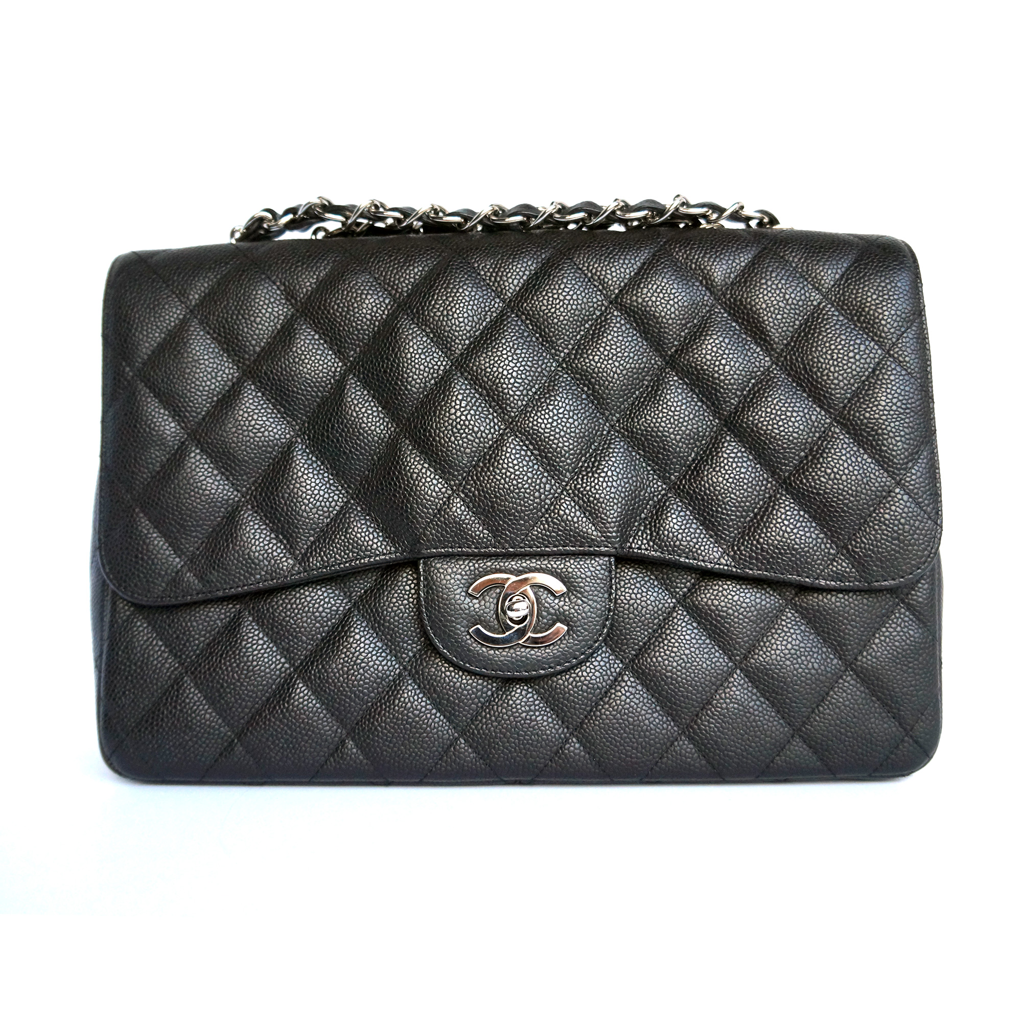 Chanel Jumbo Flap Bag Black Caviar Leather