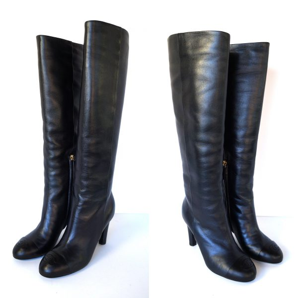 Chanel Classic Knee High Boots