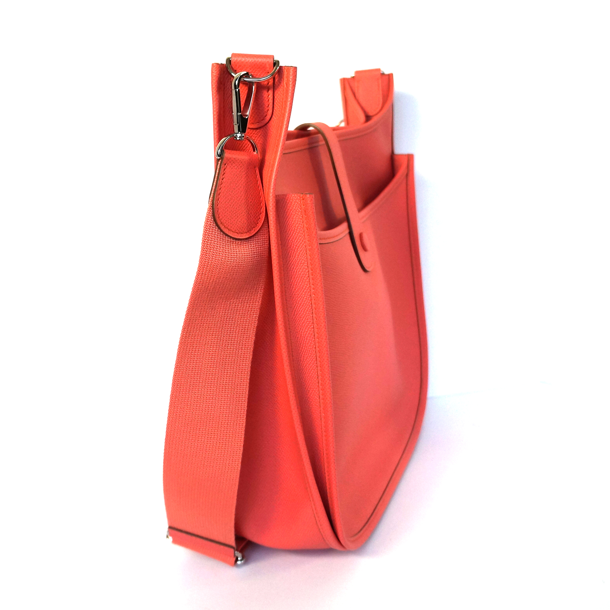 Hermes Evelyne Iii Gm Bag Coral