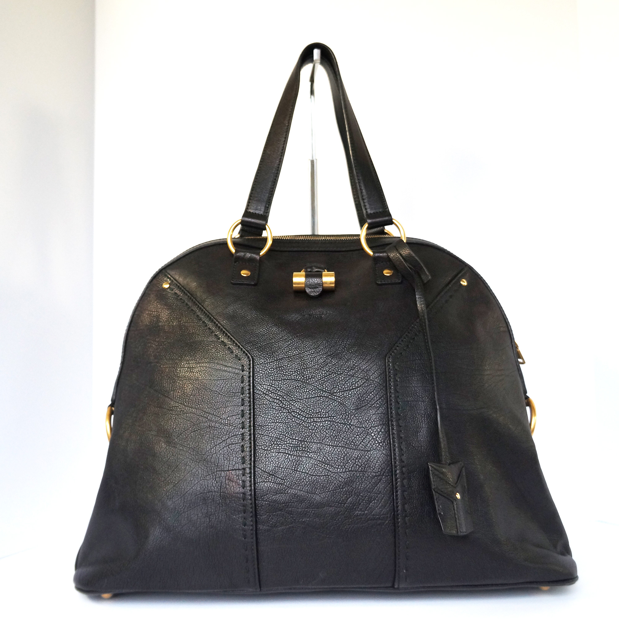 e535349a6978 Ysl yves saint laurent muse dome satchel bag black leather jpg 2000x2000 Ysl  muse