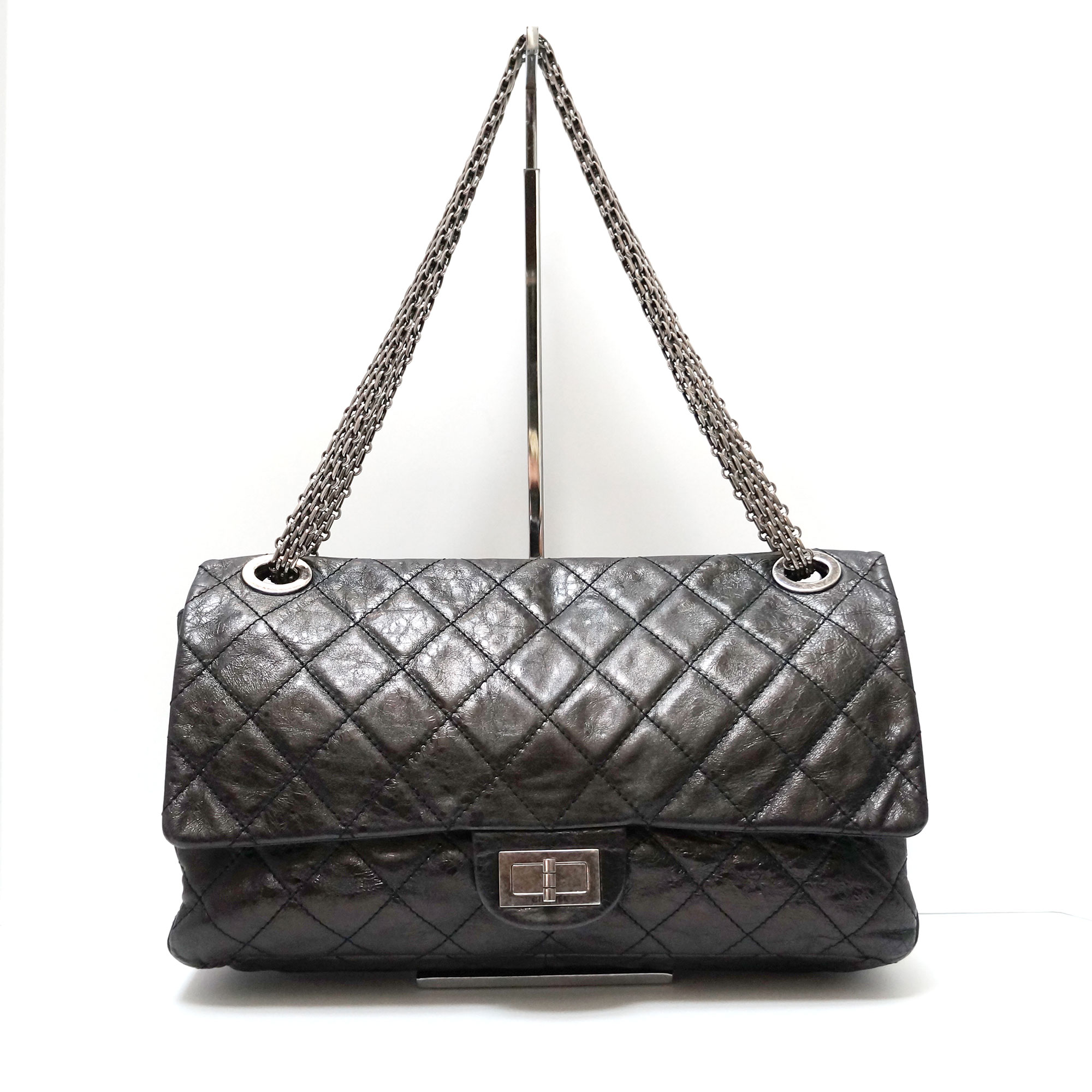 0b12cbe81da6 Chanel 2.55 Reissue Jumbo 228 Black Aged Leather Bag | | My Personal ...