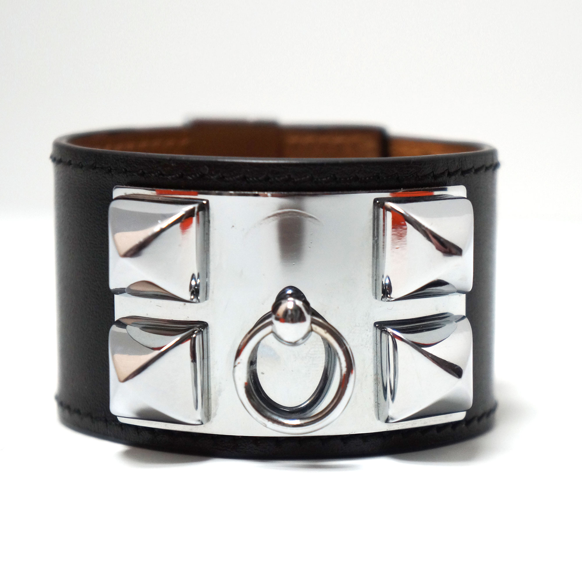 de realreal bracelets herm collier bracelet products the chien cuff s hermes jewelry enlarged