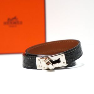 Hermes Kelly Double Tour Alligator Bracelet