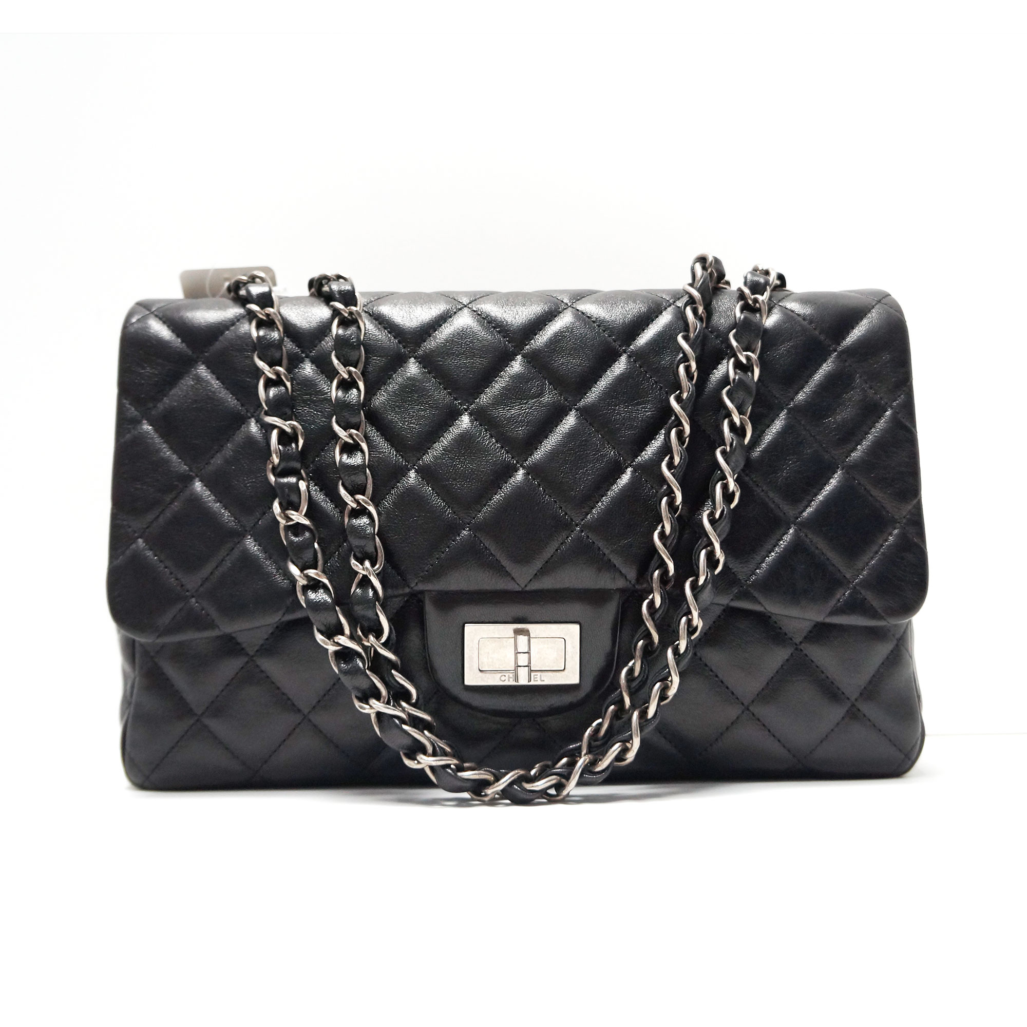 8ed18dc2e7fac6 Chanel Black Leather Jumbo Flap Bag with 2.55 Lock | | My Personal ...
