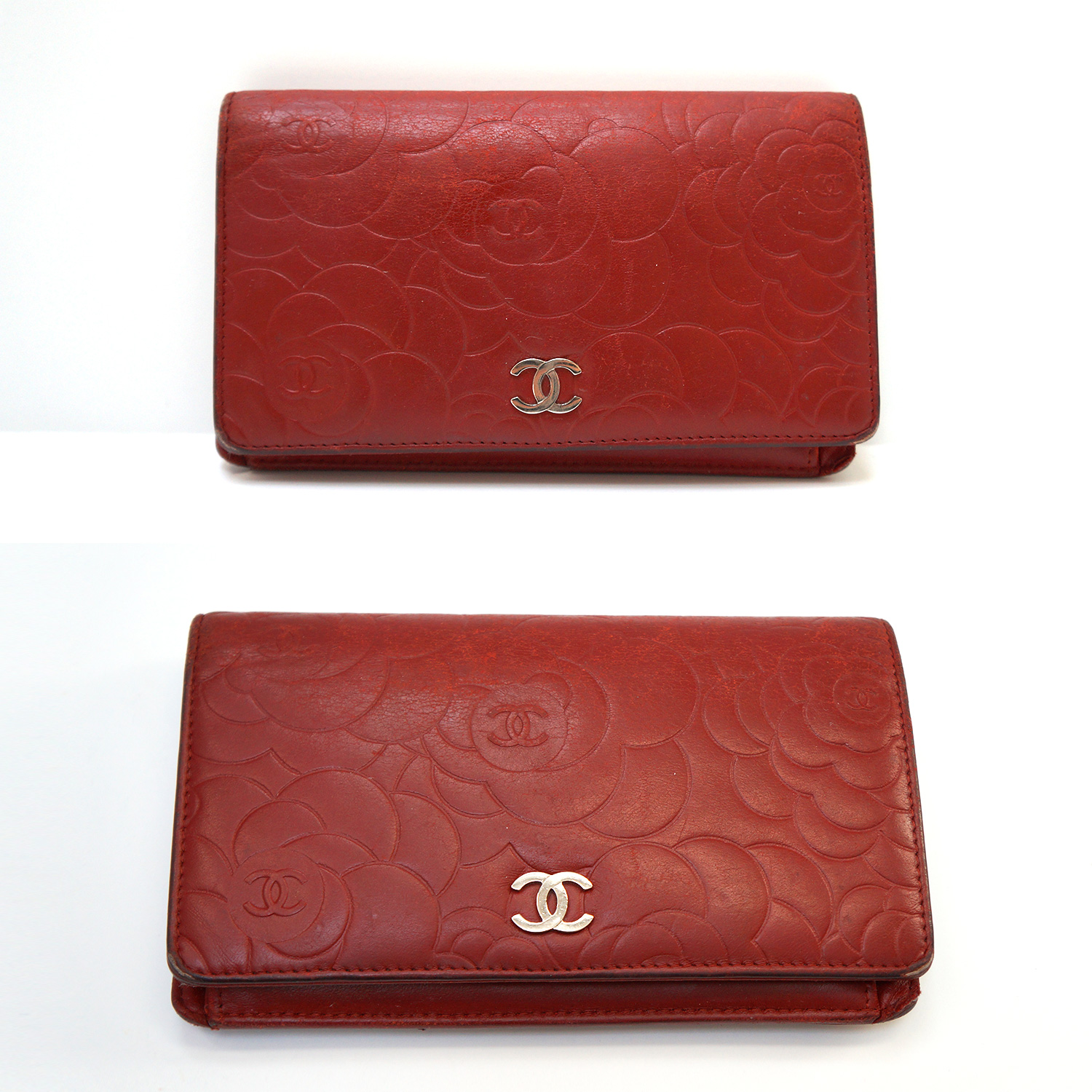 4be653dd304e Chanel Red Leather Large Bifold Camellia Wallet | | My Personal Shoppers