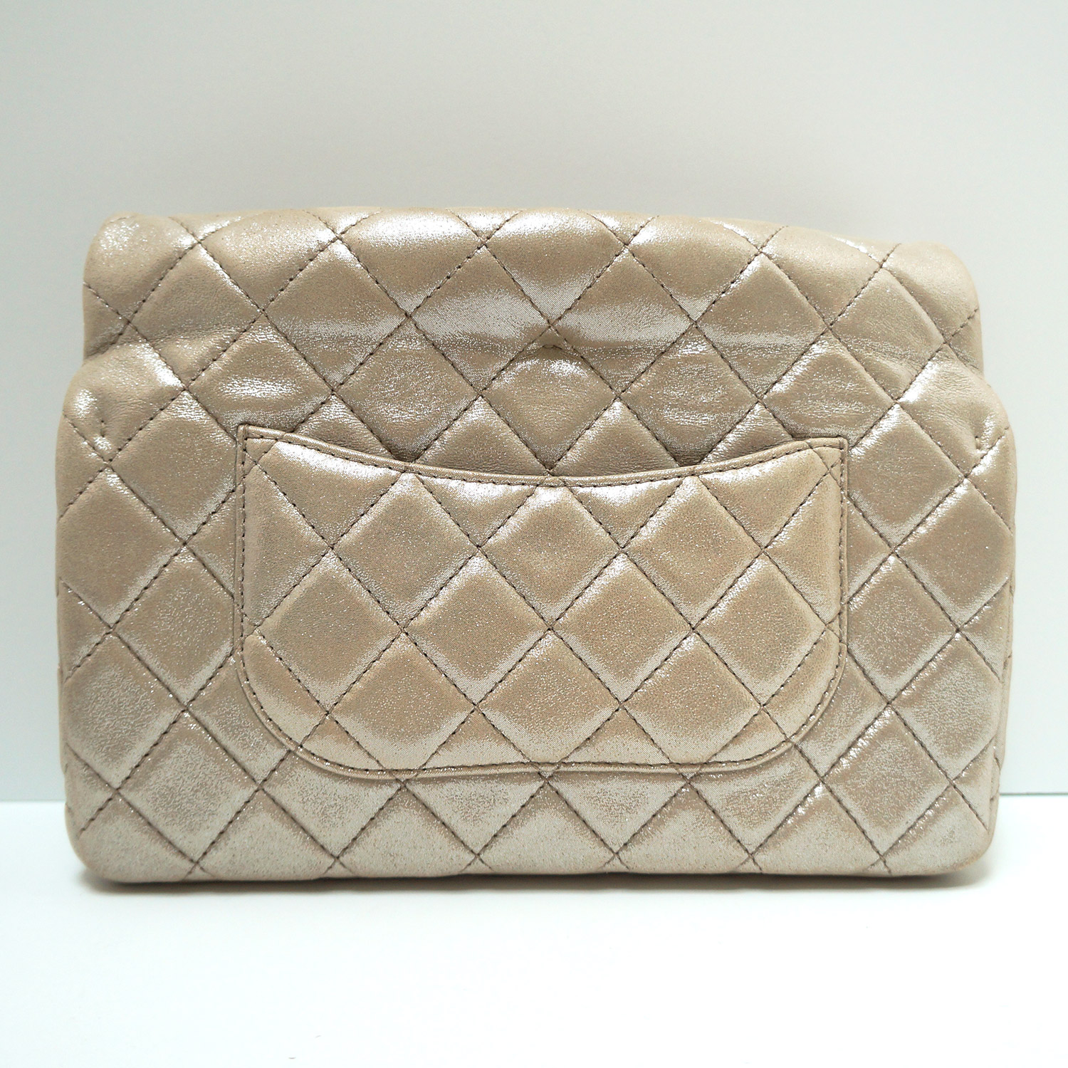 8a1cdd4c9e78 Chanel Light Gold Leather 2.55 Reissue Roll-top Clutch Bag | | My ...