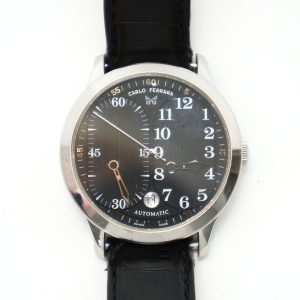 Carlo Ferrara Regolatore Stainless Steel Automatic Black Face Watch
