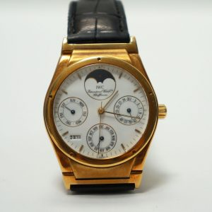 IWC Ingenieur Perpetual Calendar Moon Yellow Gold Watch