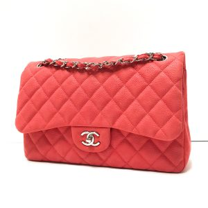 Chanel Pink Matte Caviar Leather Jumbo Flap Bag