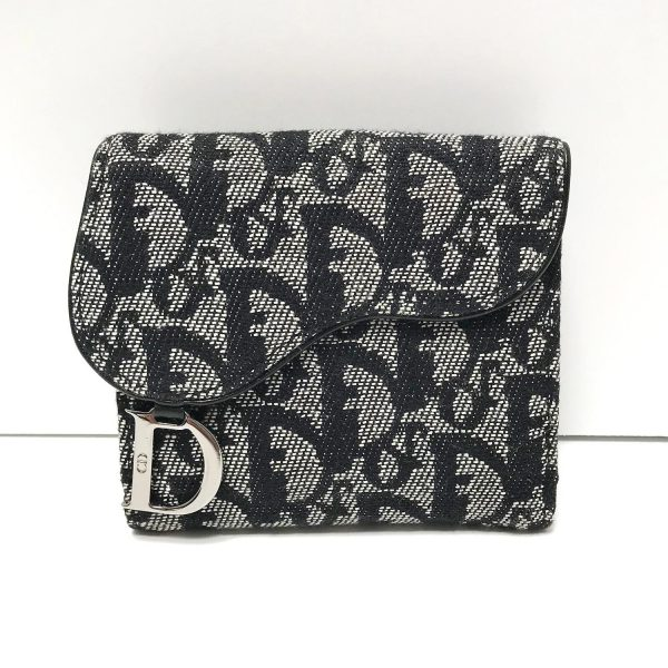 Dior Monogram Denim Saddle Wallet