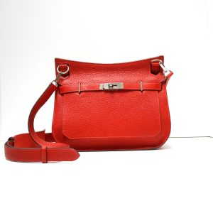 Hermes Jypsiere 28 Rouge Casaque Rose Jaipur Leather Bag