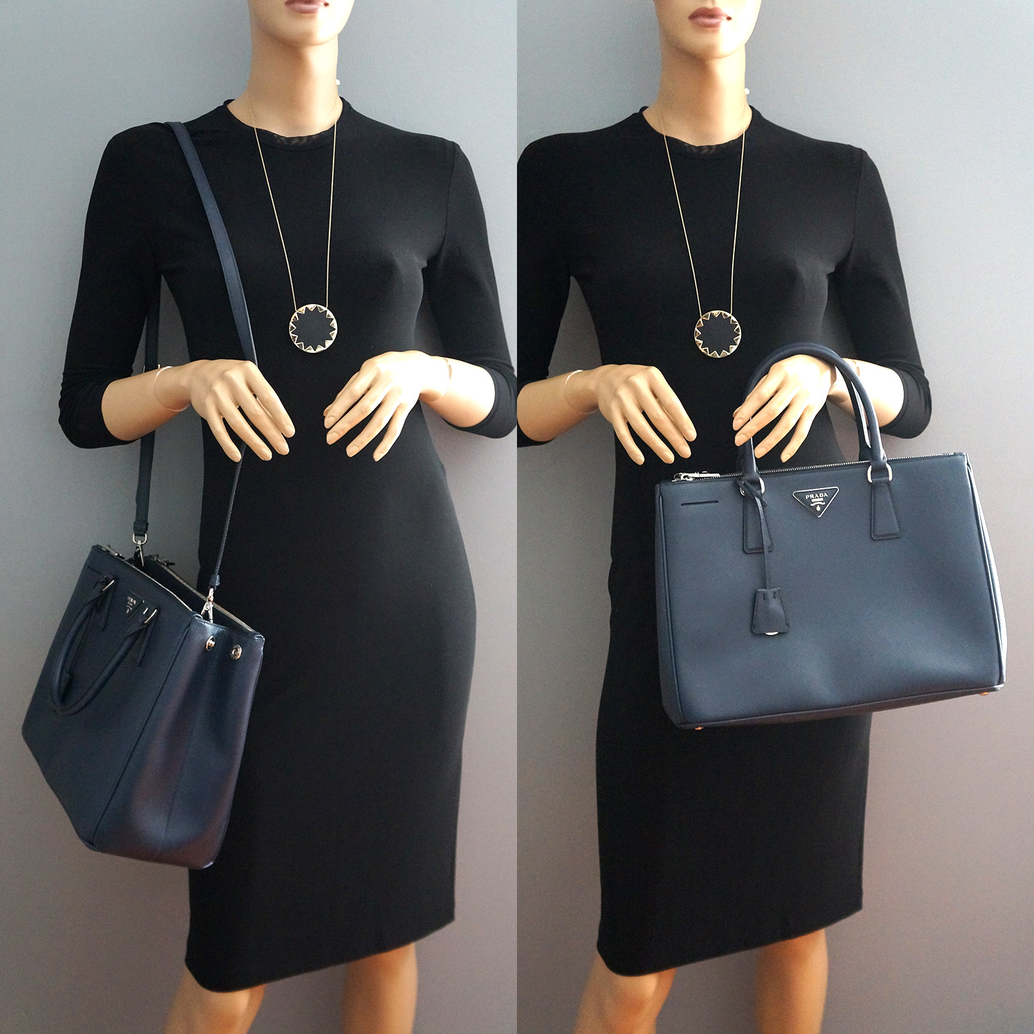 db3f6161bcca ... discount code for prada navy saffiano leather double zip tote bag fea48  bd363