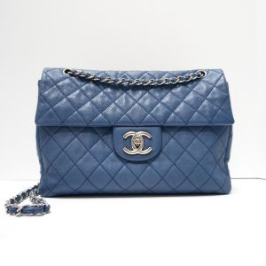 Chanel Blue Washed Caviar Soft Body Maxi Flap