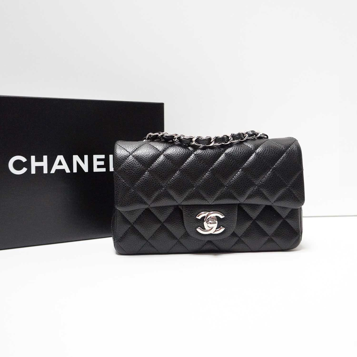 0b329261c529 Chanel Black Caviar Leather Classic Mini Crossbody Flap Bag | | My ...