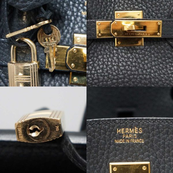 Hermes Black Fjord Leather Gold Hardware 35cm Birkin Bag