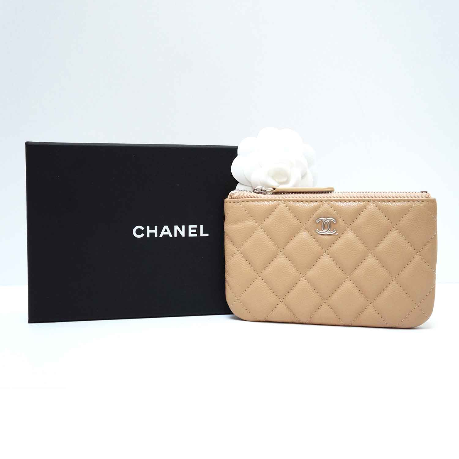 1112ba97455c Chanel Beige Caviar Leather O-Case Pouch Coin Purse | | My Personal ...