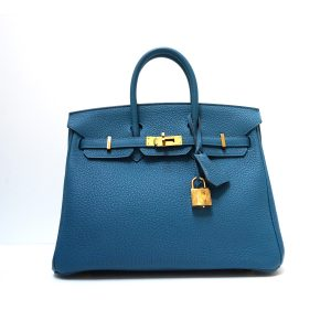 Hermes Birkin 25cm Teal Togo Leather Gold Hardware