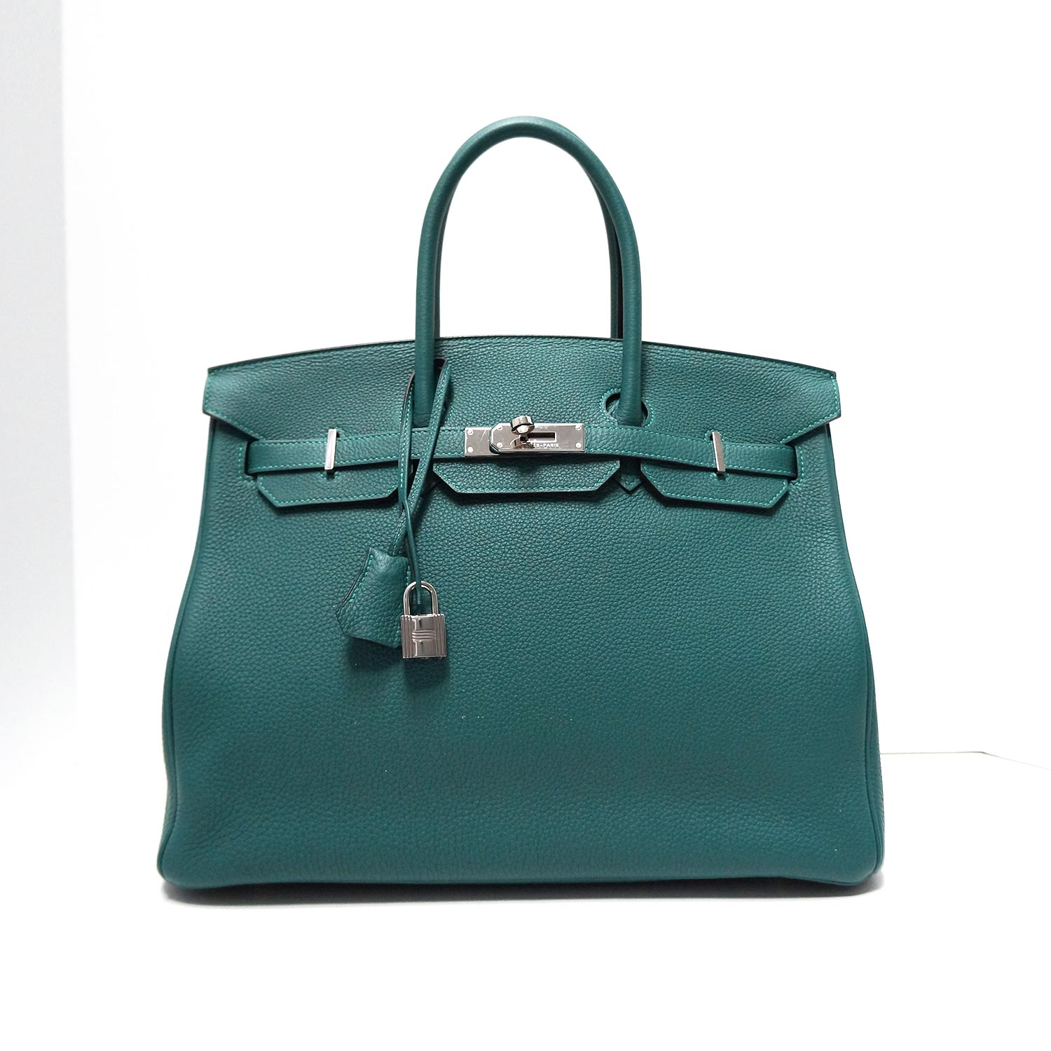 c36de1e4770cc Hermes Togo 35cm Birkin Bag Malachite Leather with Palladium Hardware
