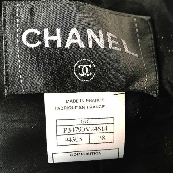 Chanel 09C Black Fantasy Tweed Jacket with CC Hearts 38