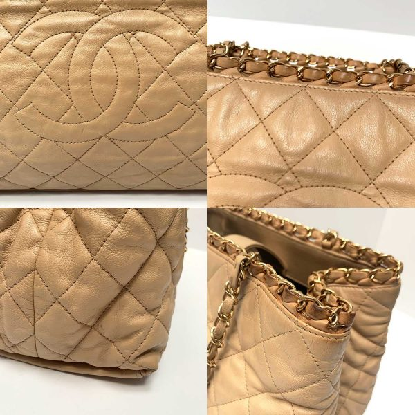 Chanel Chain Me Beige Leather Gold Hardware Tote Grand Shopper Bag