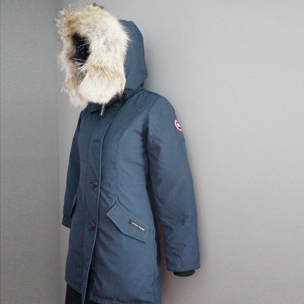 Canada Goose Rossclair Ink Blue Genuine Coyote Fur Trim Down Parka XS