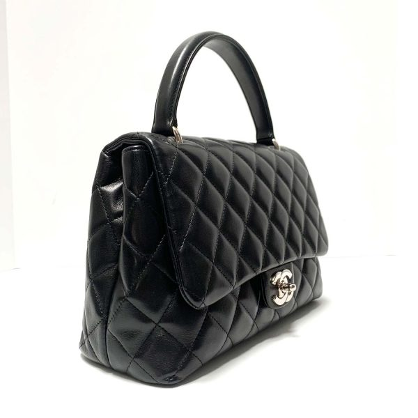 Chanel Black Leather Vintage Kelly Flap Bag