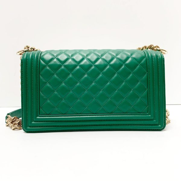 Chanel 18S Green Calfskin Boy Medium Flap Handbag