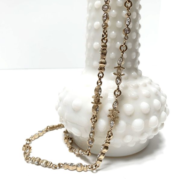 "Chanel Twilight Collection Gold Tone 40"" Necklace"