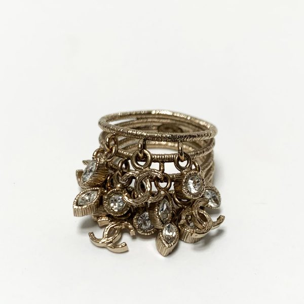 Chanel Twilight Collection Gold Tone Statement Ring