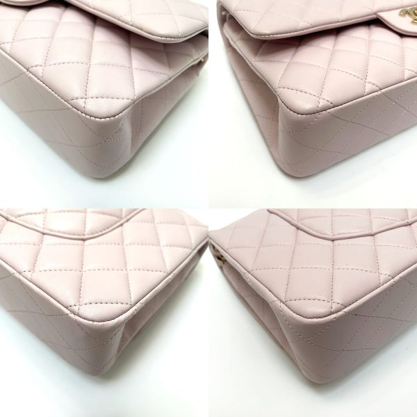 Chanel Light Pink Quilted Leather Classic Medium Flap Handbag