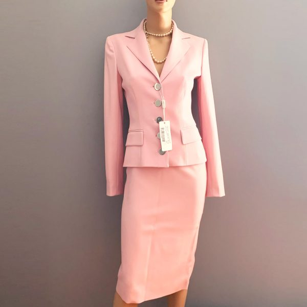 Dolce Gabbana Pink Wool Suit 40